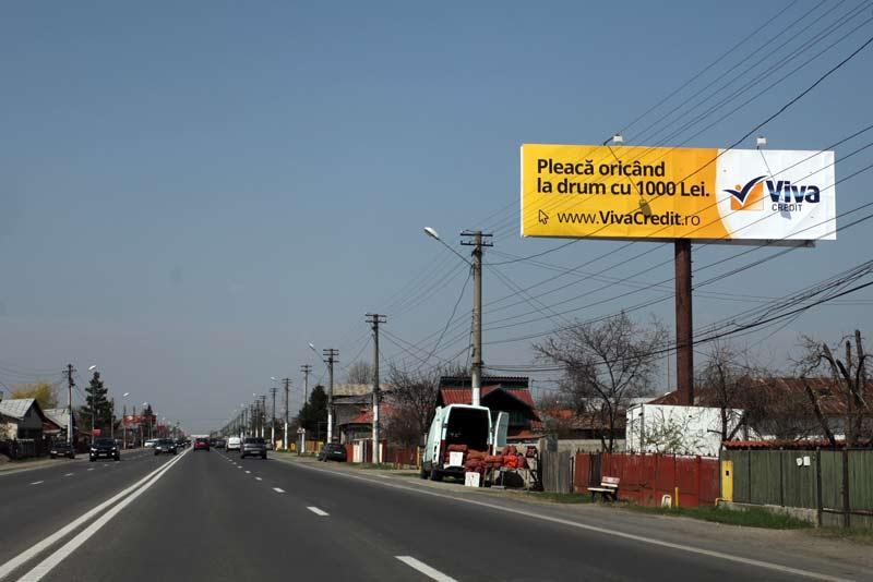 Panouri publicitare pe DN1 Romanesti