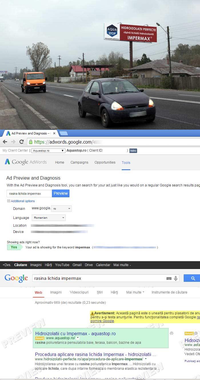 Mesajul outdoor media poate fi integrat cu cuvintele cheie verificate in SEO si Google Adwords